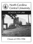 Classes of 1993-1994 by North Carolina Central School of Law