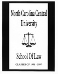 Classes of 1996-1997 by North Carolina Central School of Law