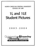 Classes of 2003-2004 by North Carolina Central School of Law