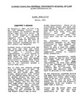 Law Alumni Newsletter | March 1993 by North Carolina Central University School of Law