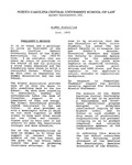 Law Alumni Newsletter | June 1993 by North Carolina Central University School of Law