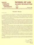 Law Alumni Newsletter | February 1998 by North Carolina Central University School of Law