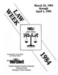 Law Week 1984 by North Carolina Central School of Law