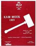 Law Week 1985 by North Carolina Central School of Law