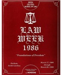 Law Week 1986 by North Carolina Central School of Law