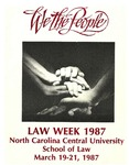 Law Week 1987 by North Carolina Central School of Law