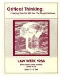Law Week 1988 by North Carolina Central School of Law