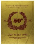 Law Week 1989 by North Carolina Central School of Law