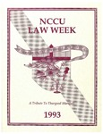 Law Week 1993 by North Carolina Central School of Law