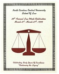 Law Week 1999 by North Carolina Central School of Law