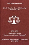 1988-1989 Student Directory by North Carolina Central University School of Law