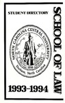 1993-1994 Student Directory by North Carolina Central University School of Law