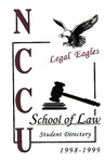 1998-1999 Student Directory by North Carolina Central University School of Law